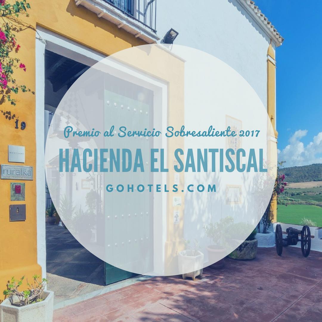 leads to - Hacienda El Santiscal, Premio al Servicio Sobresaliente de GoHotels