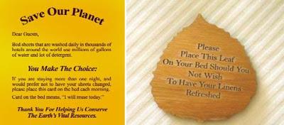 reuse linen - ¿Cómo detectar un hotel ecológico?