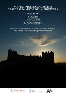 CARTEL CASTILLO 2019 212x300 - Visitas al Castillo de Arcos de la Frontera 2019